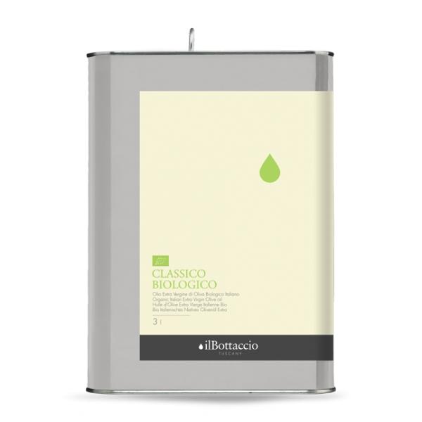 Il Bottaccio - Classico Biologico - Blend di Cultivar - Olio Extravergine di Oliva Toscano - Italiano - Alta Qualità - 3 l
