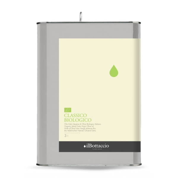 Il Bottaccio - Organic Classic - Cultivar Blend - Tuscan Extra Virgin Olive Oil - Italian - High Quality - 3 l