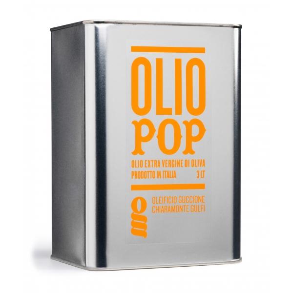 Oleificio Guccione - Pop - Olio Extravergine di Oliva Siciliano - Italiano - Alta Qualità - 3 l