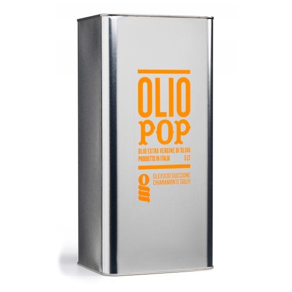 Oleificio Guccione - Pop - Olio Extravergine di Oliva Siciliano - Italiano - Alta Qualità - 5 l