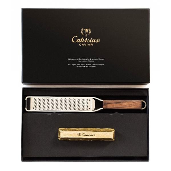 Calvisius - Lingotto Special Edition con Microplane - Caviale - Confezioni Regalo - Alta Qualità Luxury - 70 g