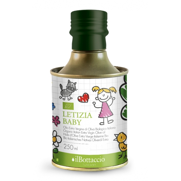 Il Bottaccio - Letizia Baby - Organic - Cultivar Blend - Tuscan Extra Virgin Olive Oil - Italian - High Quality - 250 ml