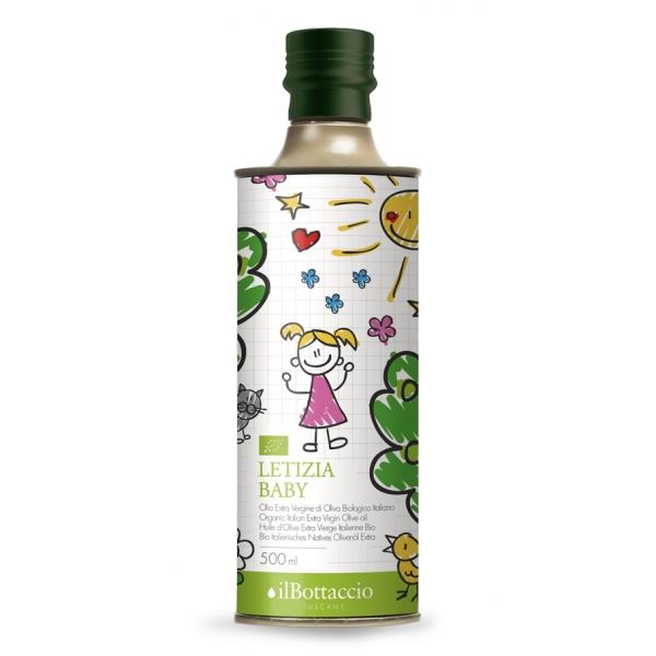 Il Bottaccio - Letizia Baby - Biologico - Blend di Cultivar - Olio di Oliva Toscano - Italiano - Alta Qualità - 500 ml