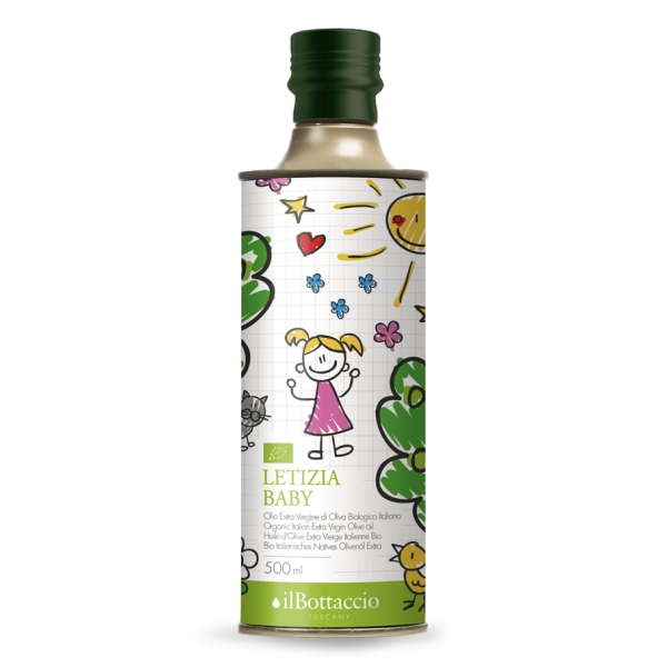 Il Bottaccio - Letizia Baby - Organic - Cultivar Blend - Tuscan Extra Virgin Olive Oil - Italian - High Quality - 500 ml
