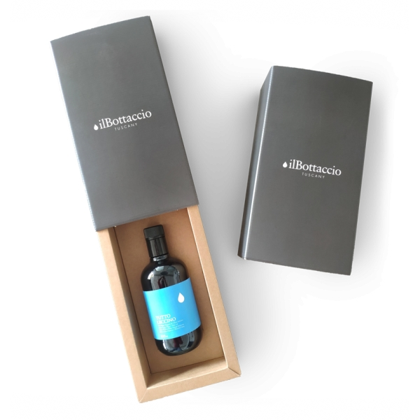 Il Bottaccio - Monocultivar Leccino Gift Box - Tuscan Extra Virgin Olive Oil - Italian - High Quality - 500 ml