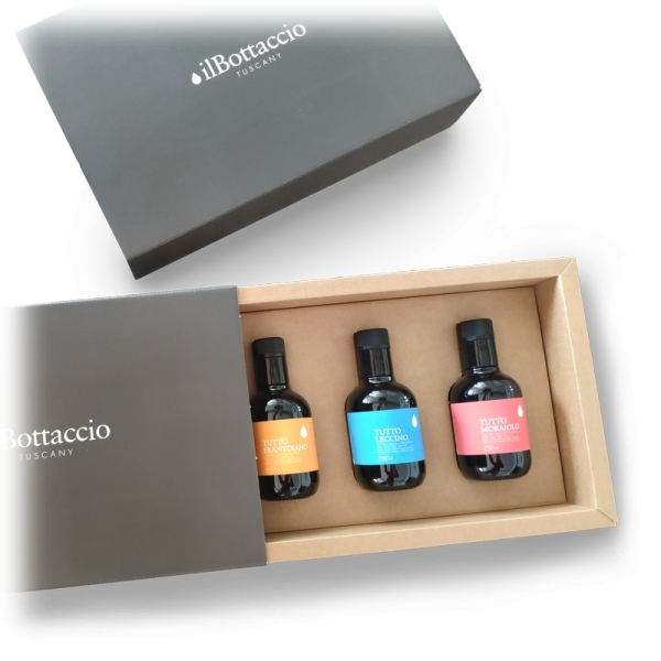 Il Bottaccio - Monocultivar Gift Box - Tuscan Extra Virgin Olive Oil - Italian - High Quality - 250 ml