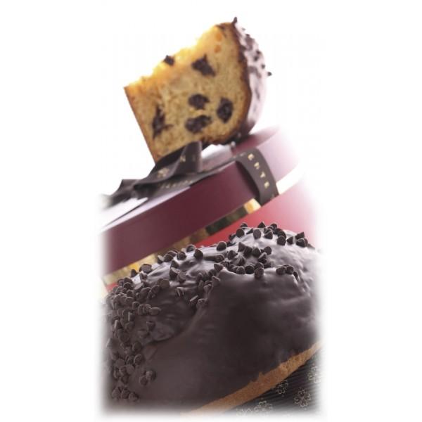 Vincente Delicacies - Panettone Ricoperto di Cioccolato Fondente Extra 70% - Montezuma - Artigianale in Confezione Cappelliera