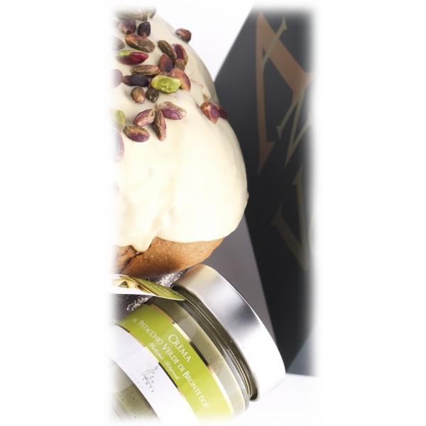 Vincente Delicacies - Panettone Ricoperto di Cioccolato Bianco con Crema di Pistacchio di Bronte D.O.P. - Mélange