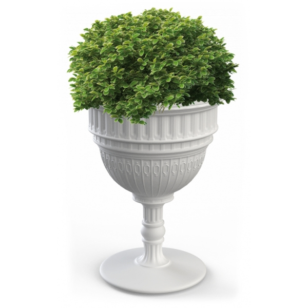 Qeeboo - Capitol Planter and Champagne Cooler - White - Qeeboo Planter by Studio Job - Furnishing - Home