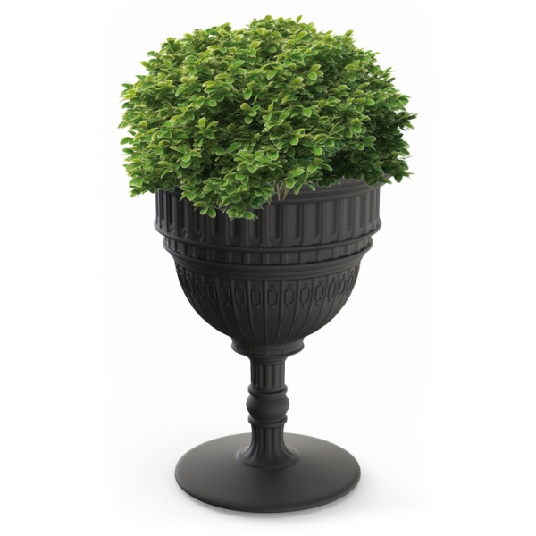 Qeeboo - Capitol Planter and Champagne Cooler - Black - Qeeboo Planter by Studio Job - Furnishing - Home