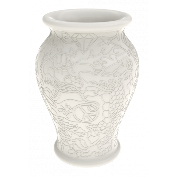 Qeeboo - Ming Planter and Champagne Cooler - White - Qeeboo Planter by Studio Job - Furnishing - Home