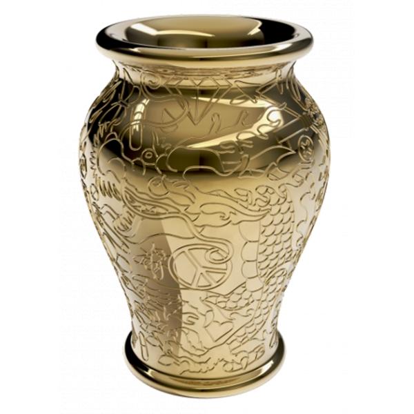 Qeeboo - Ming Planter and Champagne Cooler Metal Finish - Oro - Planter Qeeboo by Studio Job - Arredamento - Casa