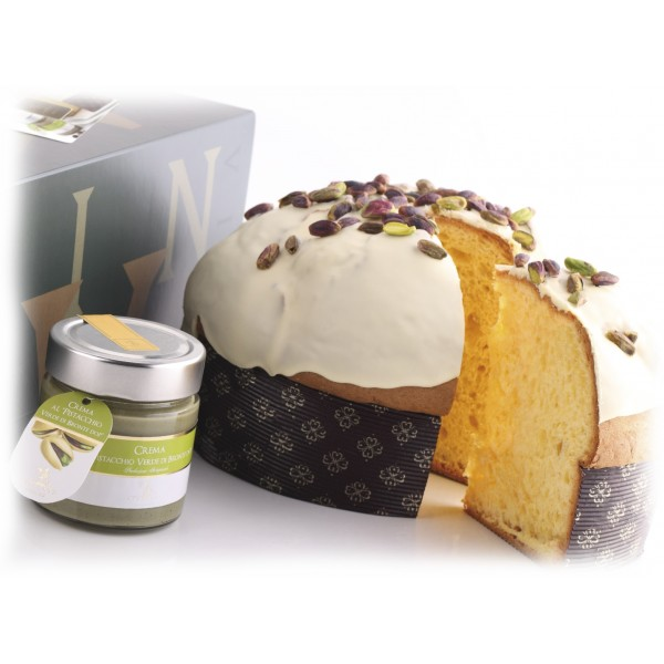 Vincente Delicacies - Panettone Covered with White Chocolate with Bronte Pistachio Cream P.D.O. - Mélange