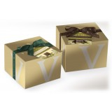 Vincente Delicacies - Panettone Ricoperto di Cioccolato Bianco e Pistacchio di Sicilia con Crema al Pistacchio - Le Chic