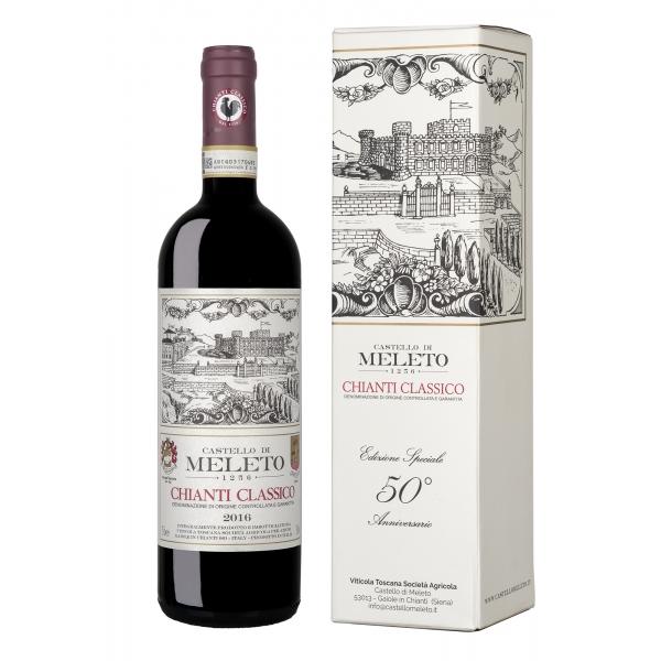 Castello di Meleto - Meleto Chianti Classico D.O.C.G. - Edizione Speciale 50° - Anniversario Chianti Classico - Vini Rossi