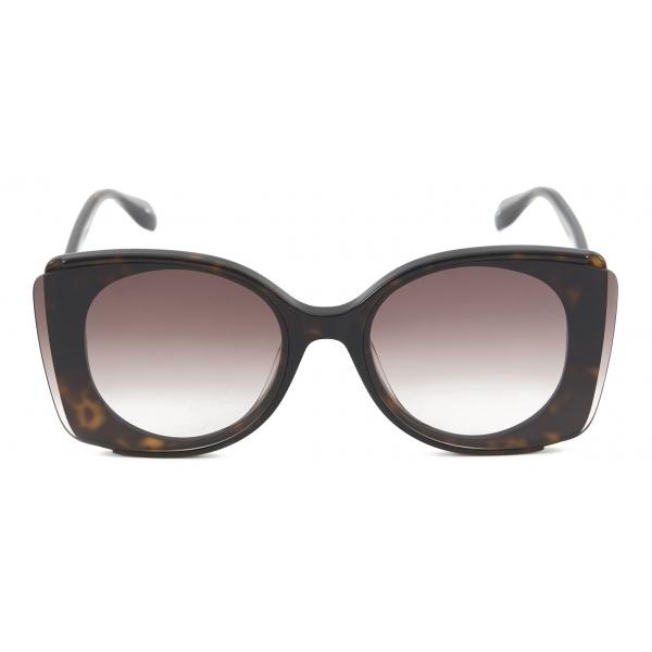 Alexander McQueen - Occhiale da Sole con Lenti Outstanding - Havana Scuro - Alexander McQueen Eyewear