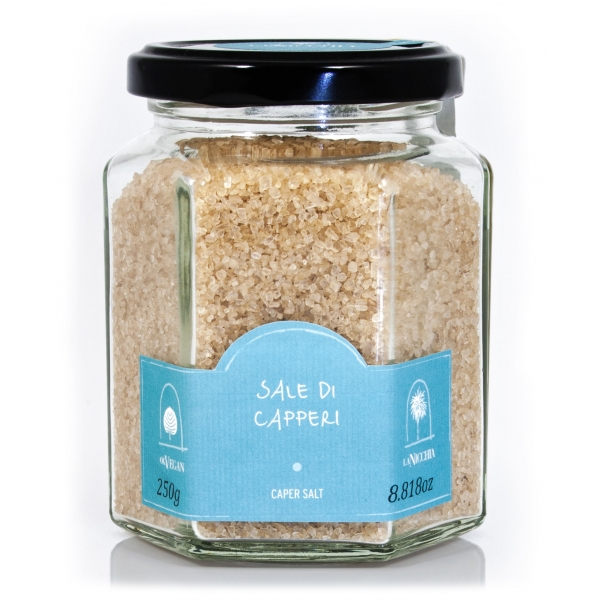 La Nicchia - Capers of Pantelleria since 1949 - Caper Salt - Sea Salt Flavored with Capers - 250 g