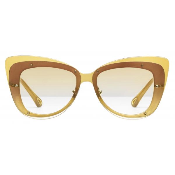 Chloé - Cat-Eye Dree Sunglasses in Nylon and Metal - Gold Yellow - Chloé Eyewear