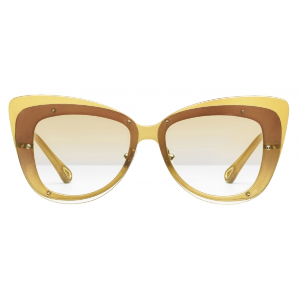 Chloé - Occhiali da Sole Cat-Eye Dree in Nylon e Metallo - Oro Giallo - Chloé Eyewear