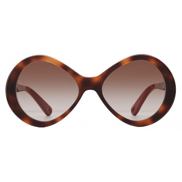 Chloé - Occhiali da Sole a Forma di Infinito Bonnie in Acetato - Havana Marrone - Chloé Eyewear