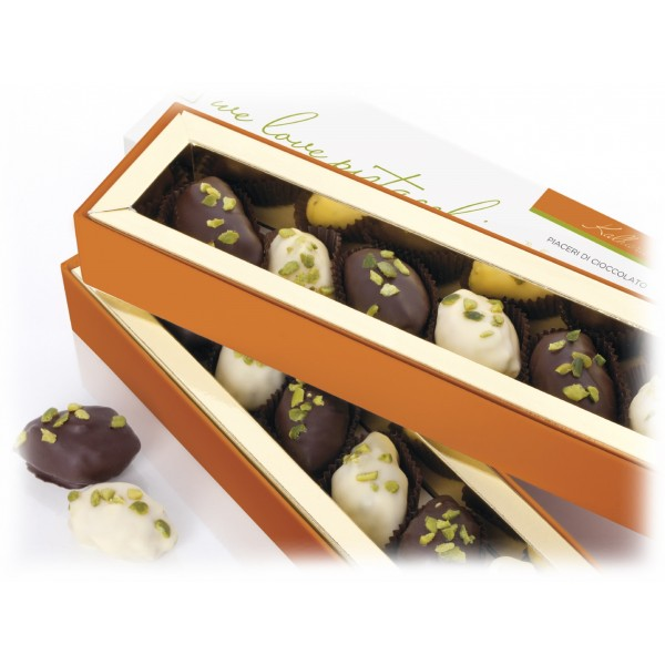 Vincente Delicacies - Ultra-Fine Handmade Chocolates Filled with Green Pistachio from Bronte P.D.O. - Maravilha Velouté