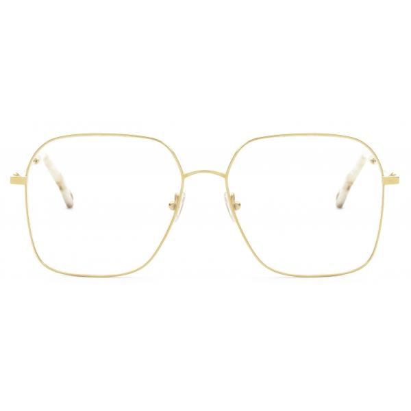 Chloé - Palma Rectangular Eyeglasses in Metal - Gold - Chloé Eyewear
