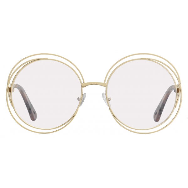 Chloé - Occhiali da Vista Rotondi Carlina in Metallo - Oro - Chloé Eyewear