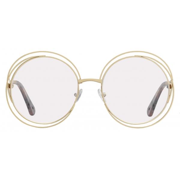 Chloé - Round Carlina Metal Eyeglasses - Gold - Chloé Eyewear