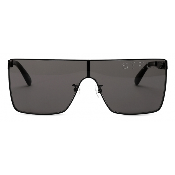 Stella McCartney - Occhiali da Sole Quadrati Nero Lucido - Nero - Occhiali da Sole - Stella McCartney Eyewear