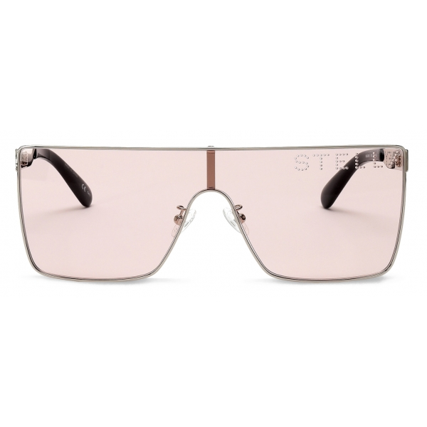 Stella McCartney - Square Silver Sunglasses - Silver Pink - Sunglasses - Stella McCartney Eyewear