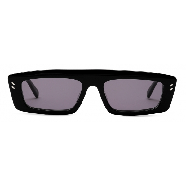Stella McCartney - Glossy Black Square Sunglasses - Black - Sunglasses - Stella McCartney Eyewear