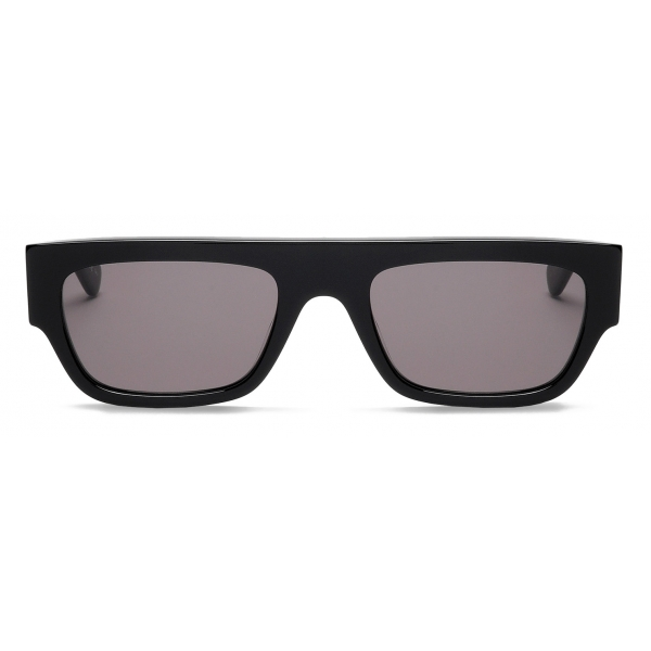 Stella McCartney - Black Square Sunglasses with Monogram - Nero - Sunglasses - Stella McCartney Eyewear