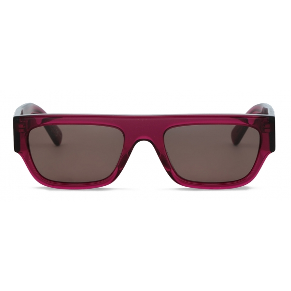 Stella McCartney - Occhiali da Sole Quadrati Monogram BCA - Fucsia - Occhiali da Sole - Stella McCartney Eyewear