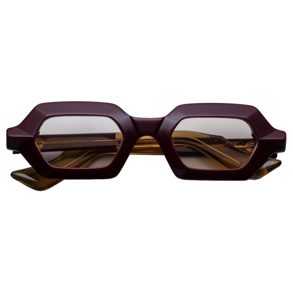 Jacques Marie Mage - Carmen Burgundy - Limited Edition - Bordeaux Bronzo - Jacques Marie Mage Eyewear