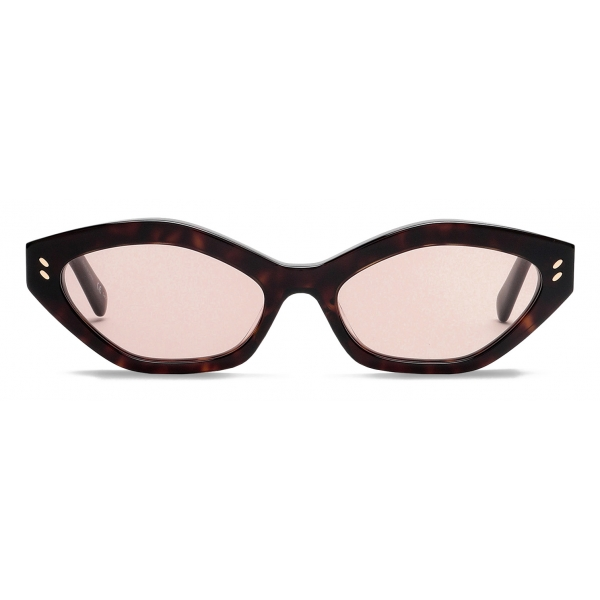 Stella McCartney - Havana Round Sunglasses - Havana - Sunglasses - Stella McCartney Eyewear