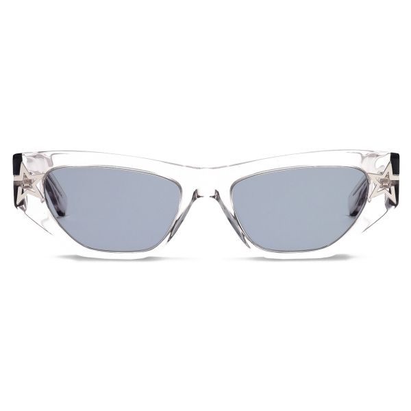 Stella McCartney - Shiny Transparent Round Sunglasses - Grey - Sunglasses - Stella McCartney Eyewear