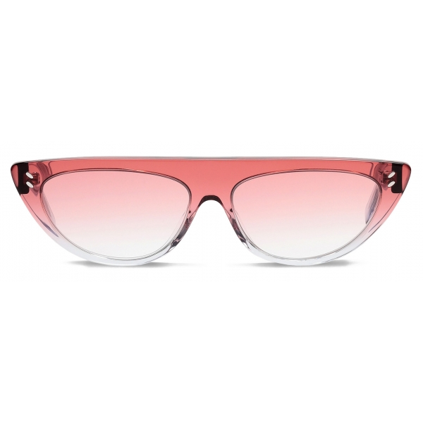 Stella McCartney - Shiny Transparent Round Sunglasses - Pink - Sunglasses - Stella McCartney Eyewear