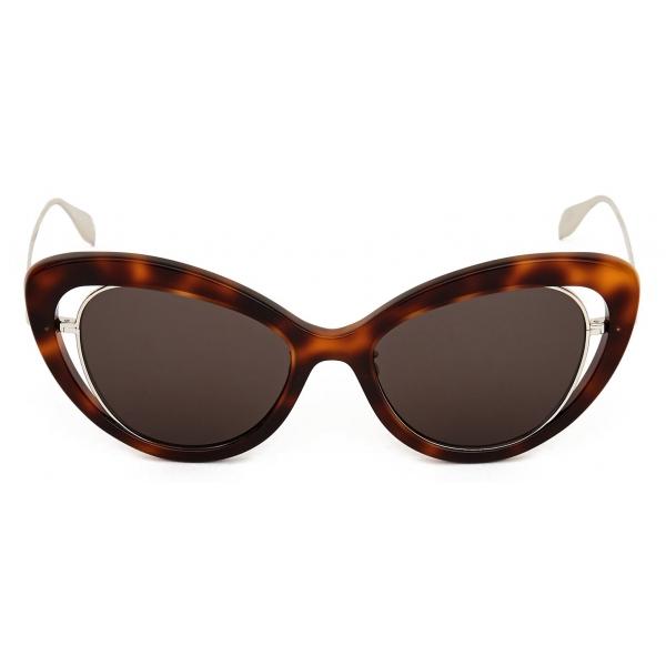 Alexander McQueen - Occhiale da Sole Open Wire - Havana - Alexander McQueen Eyewear