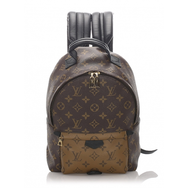 Louis Vuitton Vintage - Monogram Reverse Palm Springs PM Backpack - Brown - Canvas and Leather Backpack - Luxury High Quality