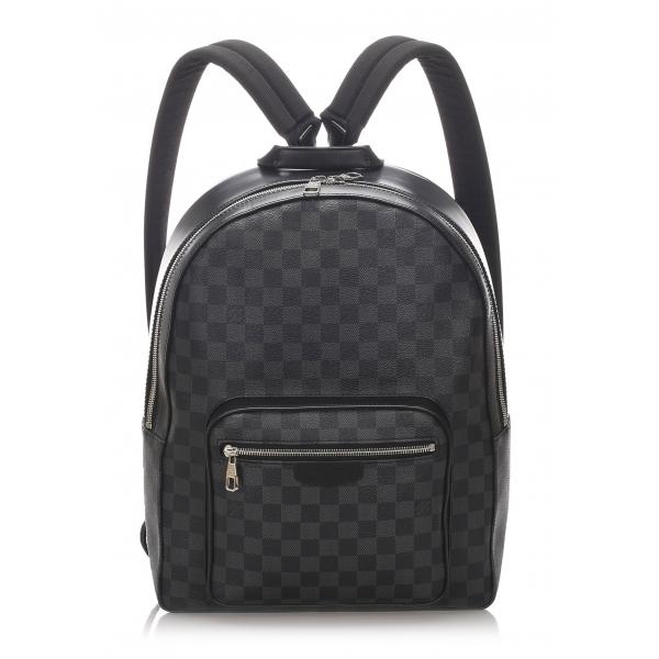 Louis Vuitton Vintage - Damier Graphite Josh Backpack - Nero - Zaino in Pelle - Alta Qualità Luxury