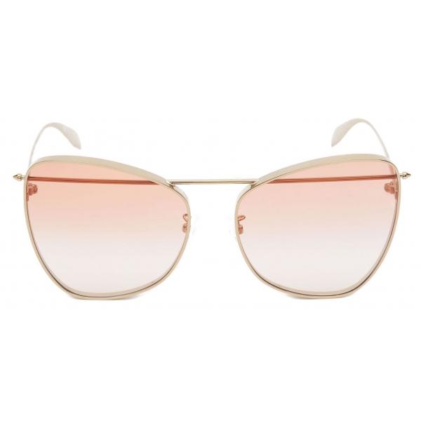 Alexander McQueen - Occhiale da Sole Piercing Butterfly - Oro Antico - Alexander McQueen Eyewear