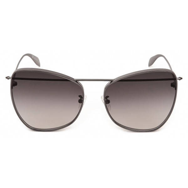Alexander McQueen - Occhiale da Sole Piercing Butterfly - Rutenio - Alexander McQueen Eyewear