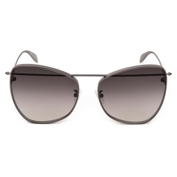 Alexander McQueen - Piercing Butterfly Sunglasses - Ruthenium - Alexander McQueen Eyewear
