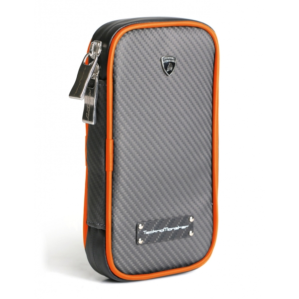 Lamborghini - TecknoMonster - Cover per Smartphone in Fibra di Carbonio Aeronautico - Arancione - Black Carpet Collection