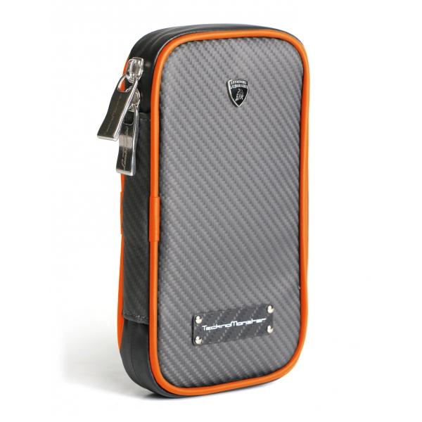 Lamborghini - TecknoMonster - Lamborghini Smartphone Holder in Aeronautical Carbon Fibre - Orange - Black Carpet Collection