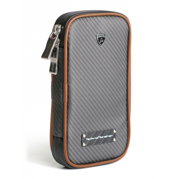 Lamborghini - TecknoMonster - Lamborghini Smartphone Holder in Aeronautical Carbon Fibre - Green - Black Carpet Collection