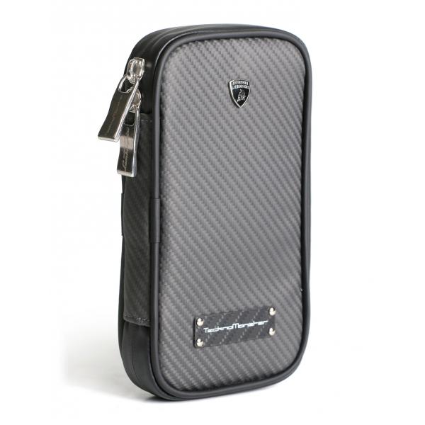 Lamborghini - TecknoMonster - Lamborghini Smartphone Holder in Aeronautical Carbon Fibre - Black - Black Carpet Collection