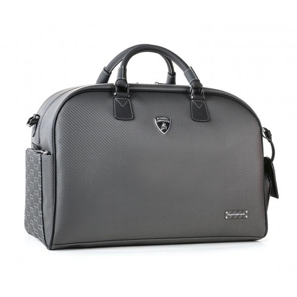 TecknoMonster - Automobili Lamborghini - Gimnika Travel Bag in Carbon Fiber and Alcantara® - Black Carpet Collection