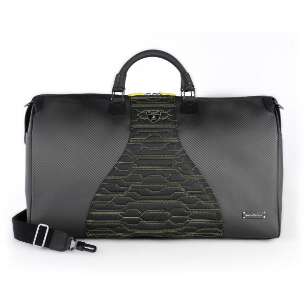 TecknoMonster - Automobili Lamborghini - Matrik Travel Bag in Carbon Fiber and Alcantara® - Black Carpet Collection