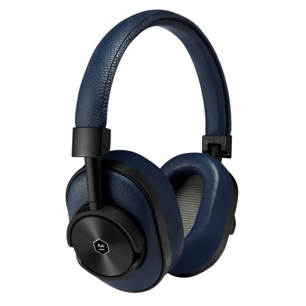 Master & Dynamic - MW60 - Metallo Nero / Pelle Navy - Cuffie Auricolari Premium Wireless di Alta Qualità ad Alte Prestazioni